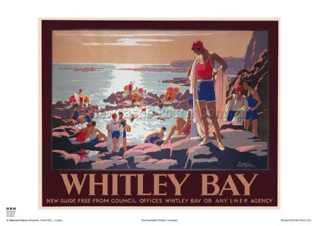 Whitley Bay - Rock Pool - Railway & Travel Poster